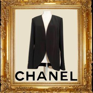 Chanel Boutique Black Jacket Size: L | US10, FR42